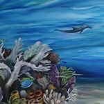 Dolphine and Surgeonfish