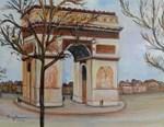Arc de Triomphe in the winter