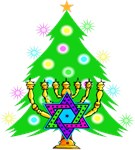 Christmas & Chanukah Families Together On Gifts
