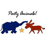 Election Day Party Animals For 2008