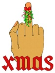 Anti-Christmas Middle Finger