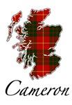 Clan Cameron Scotland Map