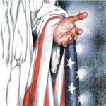 Christ With US Flag