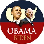 OBAMA BIDEN 2012 USA MAP