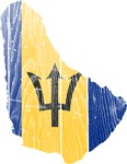 Barbados Flag And Map