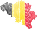 Belgium Flag And Map