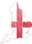 England Flag And Map