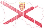 Jersey Flag And Map