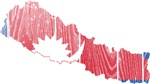 Nepal Flag And Map