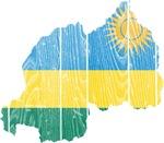 Rwanda Flag And Map
