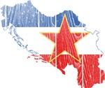 Yugoslavia Star Flag And Map