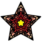 Peach Stained Glass Star