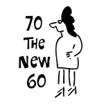 70th birthday, 70 the new 60, funny t-shirt humor