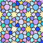 Colorful Stars Stain Glass