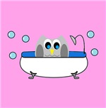 Owl In Tub (Pink)