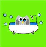 Owl In Tub (Green)