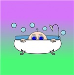 Baby Peeking Tub (Purple/Green)