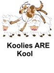 Koolie on Sheep with Koolies ARE Kool
