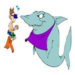 1662 Shark & Swimmer