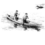 1858 Canoe & Loon