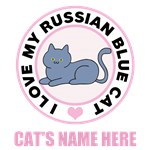 Personalized Russian Blue Cat Lover T-Shirts