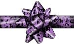 Purple Cat  Bow