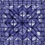 Blue marble quilt