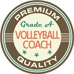 Volleyball Coach Vintage Logo T-shirts