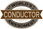 Conductor (World's Awesomest) Tshirt Gifts