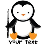 Personalized Flute Music Penguin Gift Items
