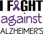 Alzheimers Fight slogan tee shirts