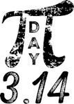 Pi Day 3.14 Distressed Math T-shirts