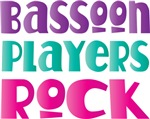 Colorful Bassoon Players Rock T-shirts