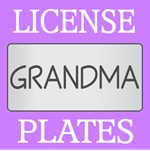 GRANDMA LICENSE PLATE FRAMES