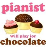 Chocolate Pianoist T-shirts and gifts