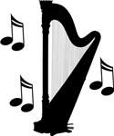 Musical Harp T-shirts and Hoodies