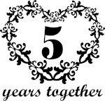 5th Anniversary Heart Gifts Together