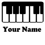 Personalized Piano Keyboard Tote Bags and Tees