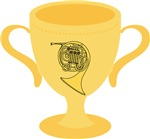 French Horn Award Trophy Tshirts and Gifts