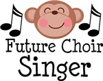 Future Choir Singer Kids and Baby Music Tshirts