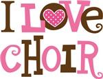 I Love Choir Music T-shirts and Gifts