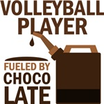 Volleyball Player Fuled By Chocolate T-shirts