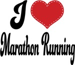 I Heart Marathon Running T-shirts and Gifts