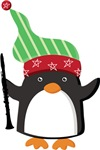 Clarinet Christmas Penguin Tshirt Gifts