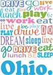EAT SLEEP LIVE DREAM Ohio T-SHIRTS
