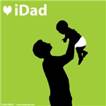 iDad Green Father and Baby