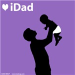 iDad Purple Father and Baby