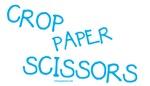 Blue Crop Paper Scissors