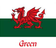 Green Welsh Flag