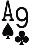 Ace of Spades 9 of Clubs
